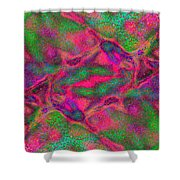 Abstract Connections 1 Shower Curtain