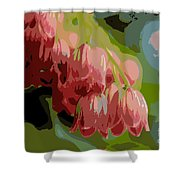 Abstract Coral Bells Shower Curtain