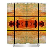 Abstract Cracker Tapestry Shower Curtain