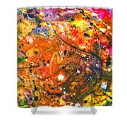 Abstract - Crayon - The Excitement Shower Curtain by Mike Savad