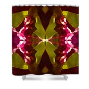 Abstract Crystal Butterfly Shower Curtain