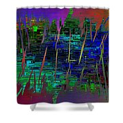 Abstract Cubed 104 Shower Curtain