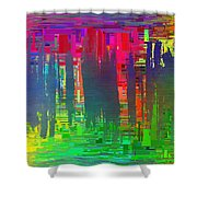 Abstract Cubed 113 Shower Curtain