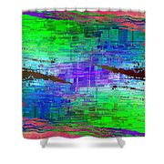 Abstract Cubed 114 Shower Curtain