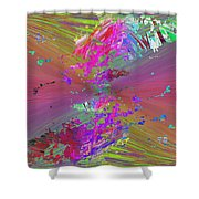 Abstract Cubed 136 Shower Curtain