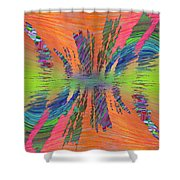 Abstract Cubed 168 Shower Curtain