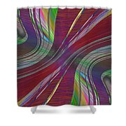Abstract Cubed 181 Shower Curtain