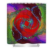Abstract Cubed 189 Shower Curtain