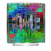 Abstract Cubed 19 Shower Curtain