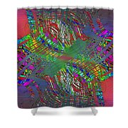 Abstract Cubed 194 Shower Curtain