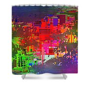 Abstract Cubed 2 Shower Curtain