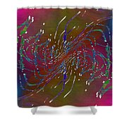 Abstract Cubed 217 Shower Curtain
