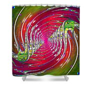 Abstract Cubed 218 Shower Curtain