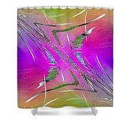 Abstract Cubed 223 Shower Curtain