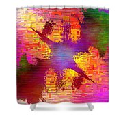 Abstract Cubed 26 Shower Curtain