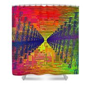 Abstract Cubed 3 Shower Curtain