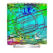 Abstract Cubed 41 Shower Curtain