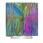 Abstract Cubed 63 Shower Curtain