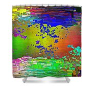 Abstract Cubed 64 Shower Curtain