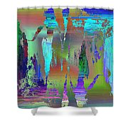 Abstract Cubed 75 Shower Curtain