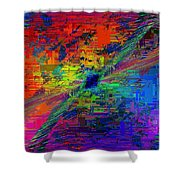 Abstract Cubed 77 Shower Curtain