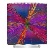 Abstract Cubed 95 Shower Curtain