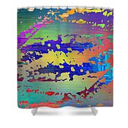 Abstract Cubed 99 Shower Curtain