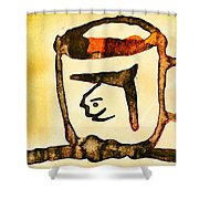 Abstract Cup Shower Curtain