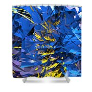 Abstract Curvy 10 Shower Curtain