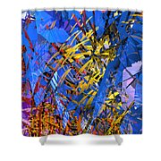 Abstract Curvy 11 Shower Curtain