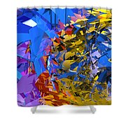 Abstract Curvy 13 Shower Curtain