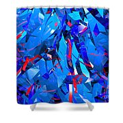Abstract Curvy 15 Shower Curtain