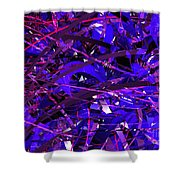 Abstract Curvy 16 Shower Curtain