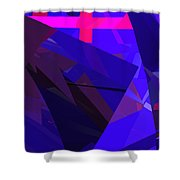Abstract Curvy 17 Shower Curtain