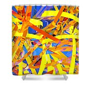 Abstract Curvy 22 Shower Curtain