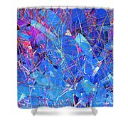 Abstract Curvy 30 Shower Curtain