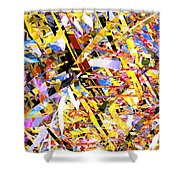 Abstract Curvy 33 Shower Curtain