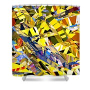 Abstract Curvy 34 Shower Curtain