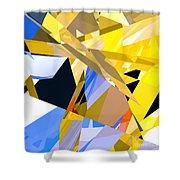 Abstract Curvy 35 Shower Curtain