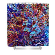 Abstract Curvy 36 Shower Curtain