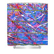 Abstract Curvy 45 Shower Curtain