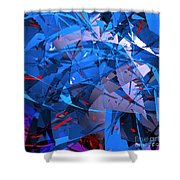 Abstract Curvy 9 Shower Curtain