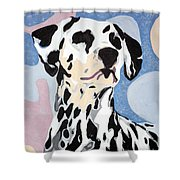 Abstract Dalmatian Shower Curtain