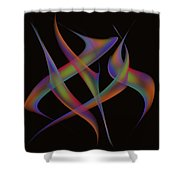 Abstract Dancers Shower Curtain