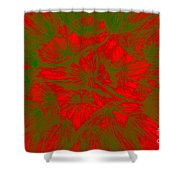 Abstract Dandelion Bloom Shower Curtain