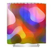 Abstract Dappled Sunlight Shower Curtain by Amy Vangsgard
