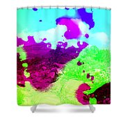 Abstract Desert Scene Shower Curtain