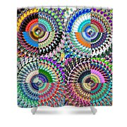 Abstract Digital Art Collage Shower Curtain