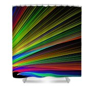 Abstract Digital Fractal Flame Art Shower Curtain