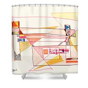 Abstract Drawing Eighteen Shower Curtain